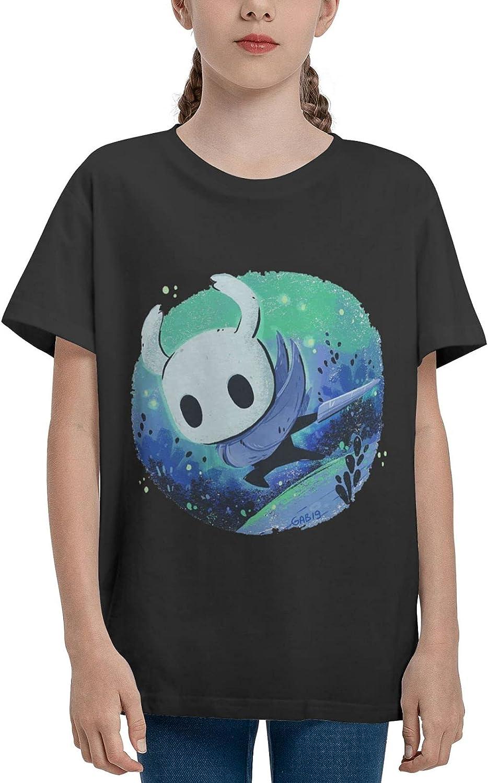AROPEARTY Hollow Knigh Teenage T-Shirt Girl Cotton Shirt Summer Casual Short Sleeves Tee