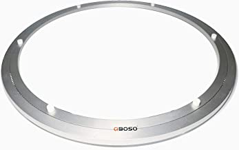 QBOSO 500mm Aluminum Lazy Susan Ring (20-Inch 80-500 Lb Load Capacity) Heavy Duty Turntable Hardware for Round Dining Table Smooth Swivel Plate
