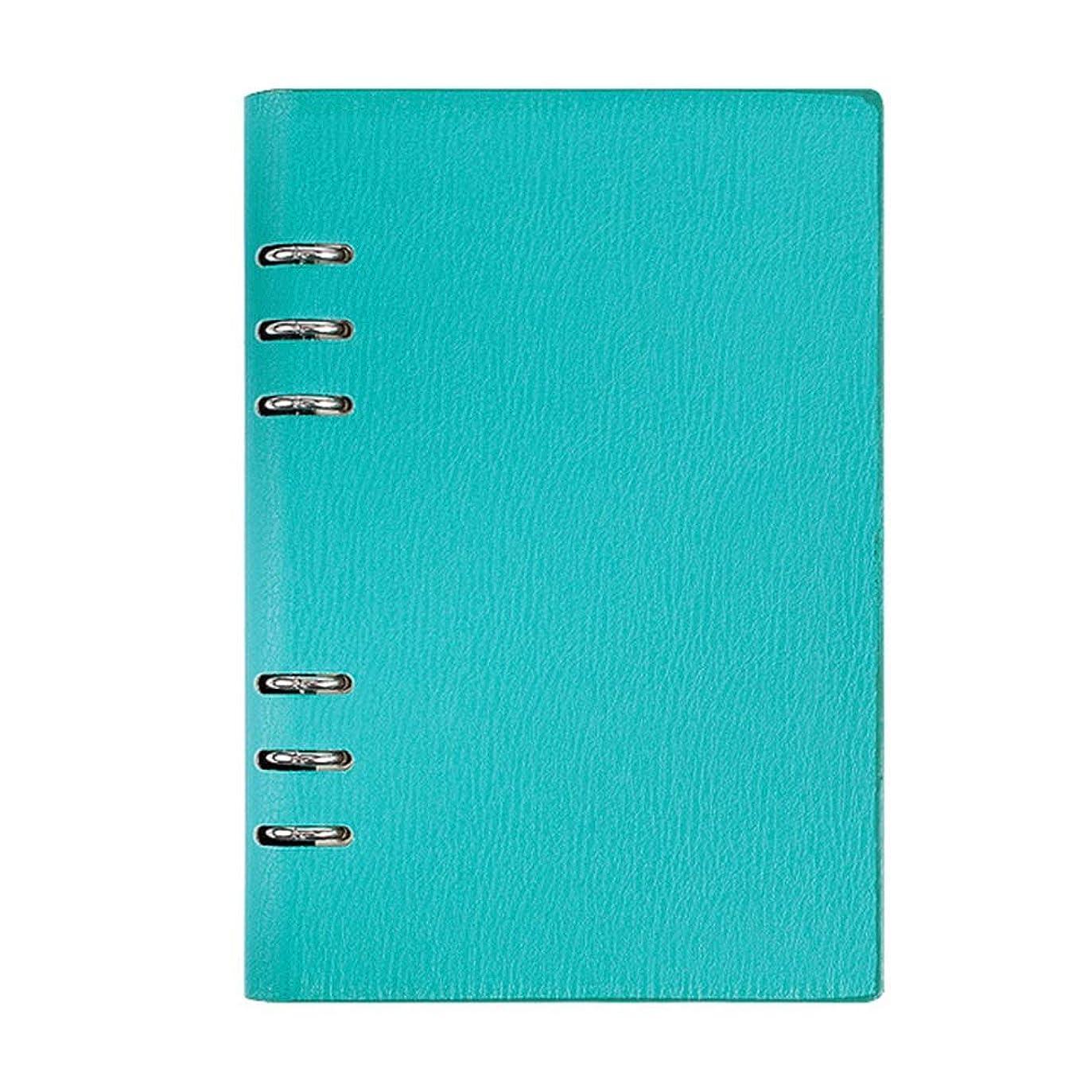 A5ノートブックビジネスルーズリーフジャーナルシンプルな厚手のメモ帳レザー会議記録帳 Blingstars (Color : Green)
