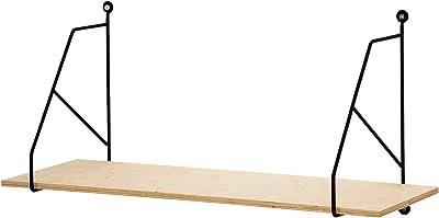 Compactor Home RAN8892 Etagère moyen modèle Karina GAMME COPENHAGEN, Bois, Beige et Noir, 60 x 21,3 x 29,5 cm