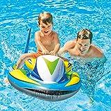 FAIRYPIE Moto acuática Hinchable para niños 117 x 77 cm, Montaje de dirigible Anillo de natación Adulto Juguete Inflable Fila Flotante Cama Flotante Agua niños Montaje