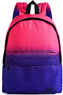MYXMY Student Bag Shoulder Bag Female Trend Simple Personality Blue Forest Casual Wild Canvas Backpack Male Computer Bag (Color : A)
