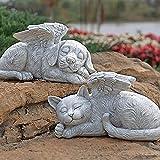JOMYO Pet Memorial, Placa Conmemorativa, Ángel Memorial Memorial Estatua De Lápida, Sueño Angel Cat and Dog Memorial Statue Sharbestone, Siempre, Siempre, Solamente CAYANDO (Color : Dog)