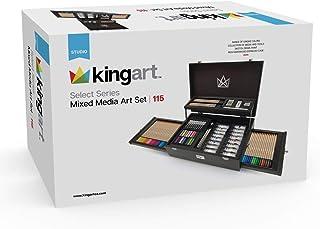 KINGART Select Series Mixed Media, Set of 115 Art Set, Assorted