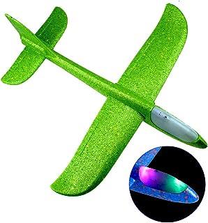 طائرات طائرة شراعية طائرة، مع ضوء ليد فلاش 48 سم، وضع الطيران الرمي، طائرة هوائية هوائية في الهواء الطلق، ألعاب رياضية للأ...