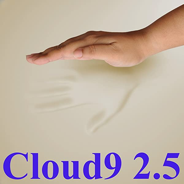 2 5 Cloud9 Gel Enhanced Cal King 1 Inch 100 Visco Elastic Memory Foam Mattress Topper