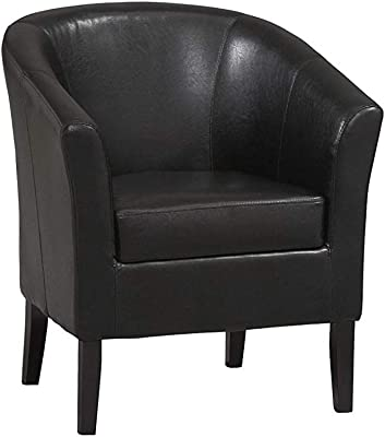 Linоn Hоmе Dcоr Home Decor Simon Club Chair, 33 x 28.25 x 25.5, Black