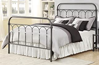 Eastern King Livingston King Metal Bed with Crystal Knobs