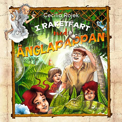 I raktetfart med änglapappan audiobook cover art