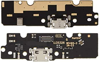 Shinzo USB Charging Port Board Flex Cable Ribbon Connector Compatible for Motorola Moto E5 Plus-Black