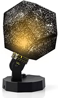 DIY Night Light Baby Star Projector,Constellation Lamp, 3 Color Universe Galaxy Rotating Relaxing Mood Light (Black)