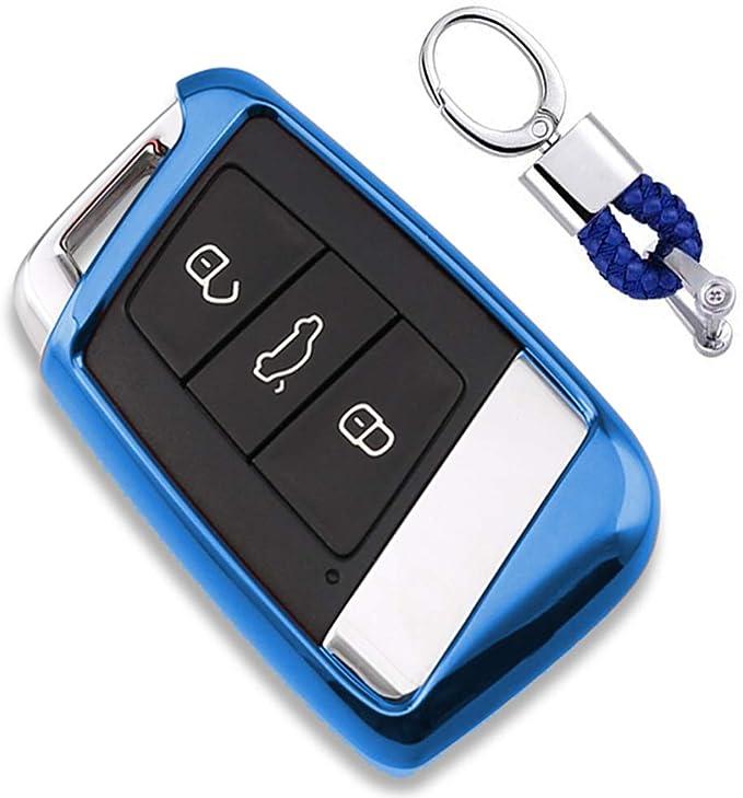 Blau Car Keyless Entry Key Cover Fall Für Vw Volkswagen Elektronik