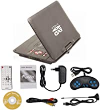 TEEPAO - DVD Player 270 Degrees Swivel Screen Portable Mobile DVD Player Digital Multimedia Player EVD with TV Tuner