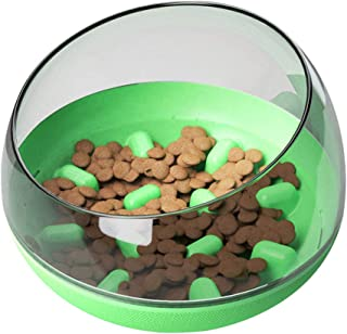 Apostasi Pet Slow Feeder Bowl Round Tumbler Dog Bowl Food Container for for Cat and Dogs