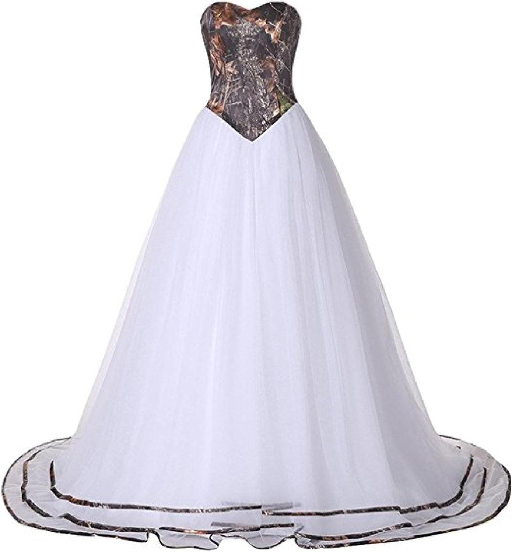Macria Womens Formal Strapless Sweetheart Mermaid Wedding Dress Tulle Bridal Dresses Long 2019