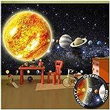 GREAT ART Mural de Pared ? Planetas del Sistema Solar ? Planetas del Sistema Solar ? Mural Galaxia Cosmos Espacio Universo Estrellas Y Tierra Foto Tapiz Y Decoración (336 x 238 cm)