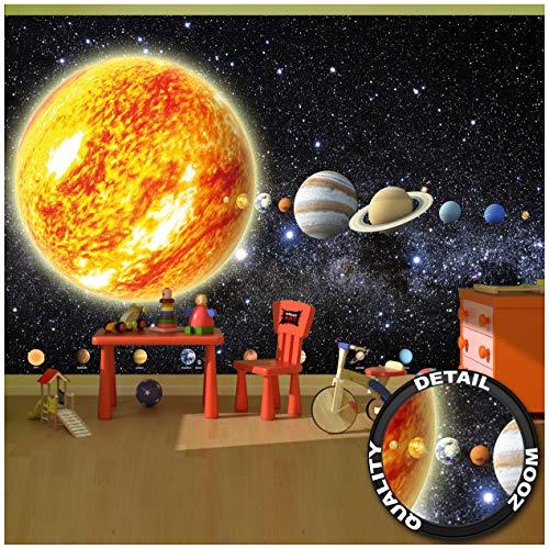 Great Art Zonnesysteem Planeten – muurschildering decoratie Galaxie Cosmos Space Universum All Sky sterren Galaxy ruimte Earth fotobehang wandbehang fotoposter wanddecoratie
