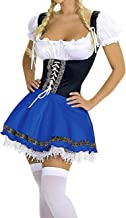 M_Eshop Women's Oktoberfest Costume Bavarian Beer Girl Maid Dress Halloween Costume