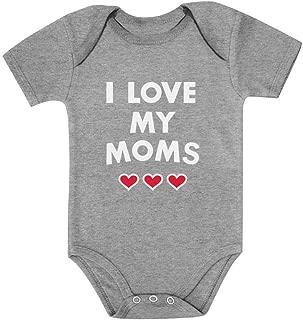 Tstars I Love My Moms - Gay Pride Mother's Day Gift Infant Valentine's Baby Bodysuit