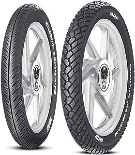 MRF Nylogrip Zapper-FS 80/100 -18 47P Tubeless Bike Tyre, Front