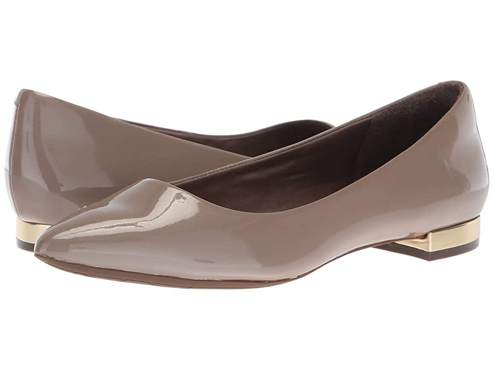 Rockport Total Motion Adelyn Ballet (Taupe Grey Pearl Patent) Women