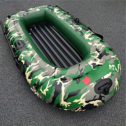 PZJ-Aufblasbares Boot mit Rudern, PVC aufblasbares Marineboot Luftmatratze Heavy Duty 3 Personen Schlauchboot Schlauchboot Fischerboot