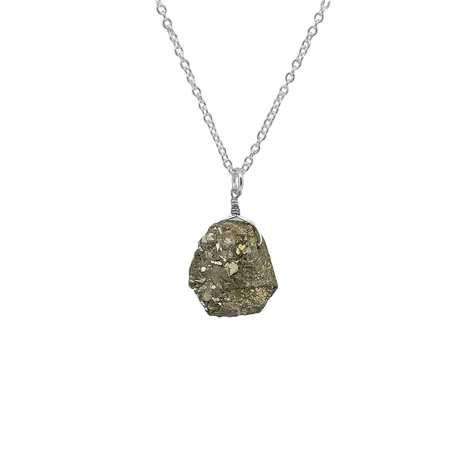Gempires Natural Raw Pyrite Pendant Crystals Milwaukee Mall San Jose Mall Necklace Gemst