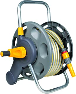 Hozelock 45m 2 in 1 Hose Reel With 25m Hose Pipe