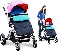 Kidsidol Baby Sleeping Bag Universal Bunting Bag Stroller Footmuff Cover 3-in-1 Baby Stroller Blanket Waterproof Windproof Stroller Annex Mat Keep Warm and Detachable (Blue)