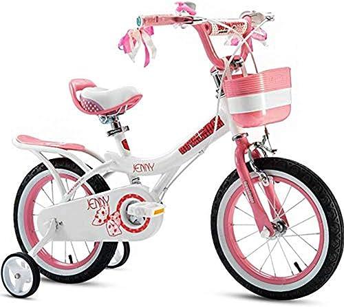 TOOSD bicycle Unisex Kinderfürrad mit Hilfsrad Kohlenstoffstahl-Legierung Material mädchen Baby 2-4-6-7-8-9-10 Jahre Altes fürrad H   105-125cm