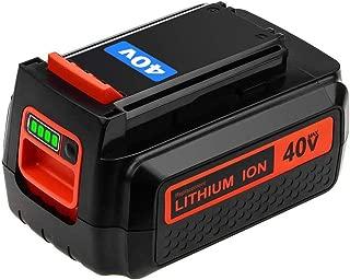LBXR2040 Battery 40V Replacement for Black and Decker 40-Volt MAX LBX2040 LBX36 LBXR36 LBXR2036 LST540 LCS1240 LBX1540 LST136W Black+Decker Lithium Battery