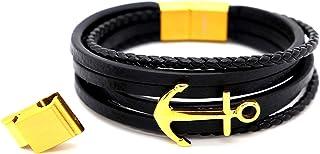 Lucky 2+7 Men's Bracelet Leather Braided Bracelet, Men's...