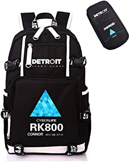 Yichuhaoxi Detroit Become Human Backpack – Canvas Japanese Anime School bags Bookbags Rucksack