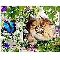 かわいい猫の蝶大人の子供のための1000ピースパズル、大人のための木製ジグソーパズル教育玩具DIYの家の装飾