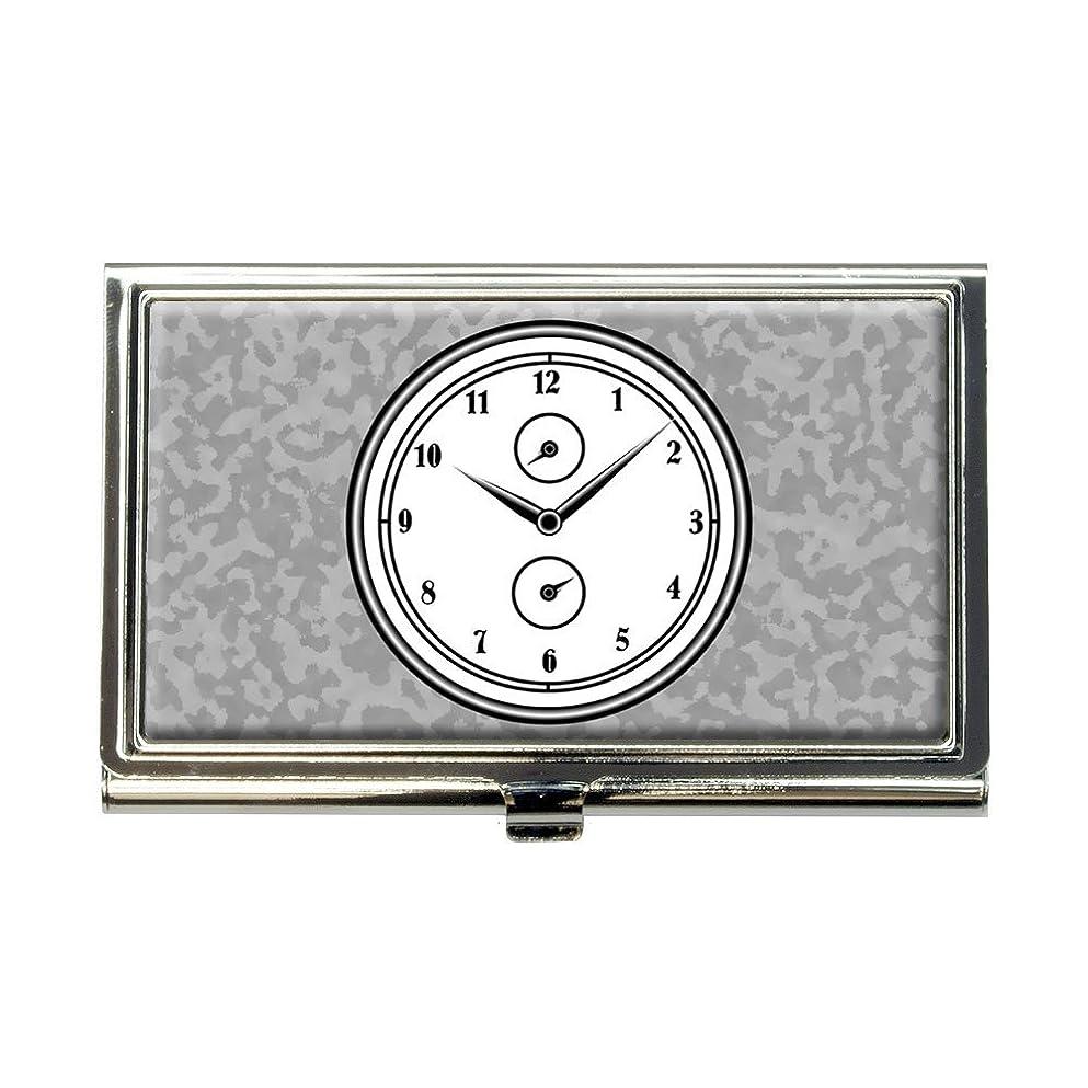 ファンドタイヤしゃがむ壁時計基本的なホワイトブラックビジネスクレジットカードホルダーケース