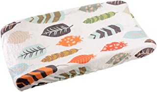 Changing Pad Cover For Baby Boys & Girls By Danha – 100% Soft, Ultra-Plush Polyester – Universal, Elastic Trim Edges Design – Unisex Leaf Patterns – Stain Resistant & Machine Washable