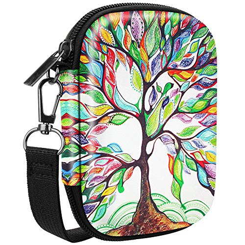 Fintie Carrying Case Compatible with HP Sprocket Photo Printer - Hard EVA Shockproof Storage Portable Travel Bag w/Inner Pocket, Removable Strap and Metal Hook (Love Tree)