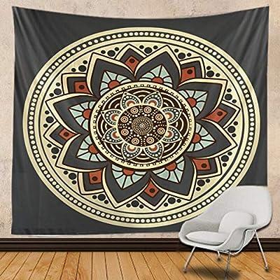 153x130cm Sun Hippy Tapestry Wanlinde Tapiz psicod/élico para decoraci/ón del hogar