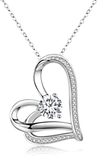 Love Heart Necklaces Sterling Silver Love Heart Pendant...