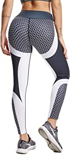 FITTOO Women's 3D Digital Print High Waist Skinny Push Up Leggings Fitness Yoga Pants