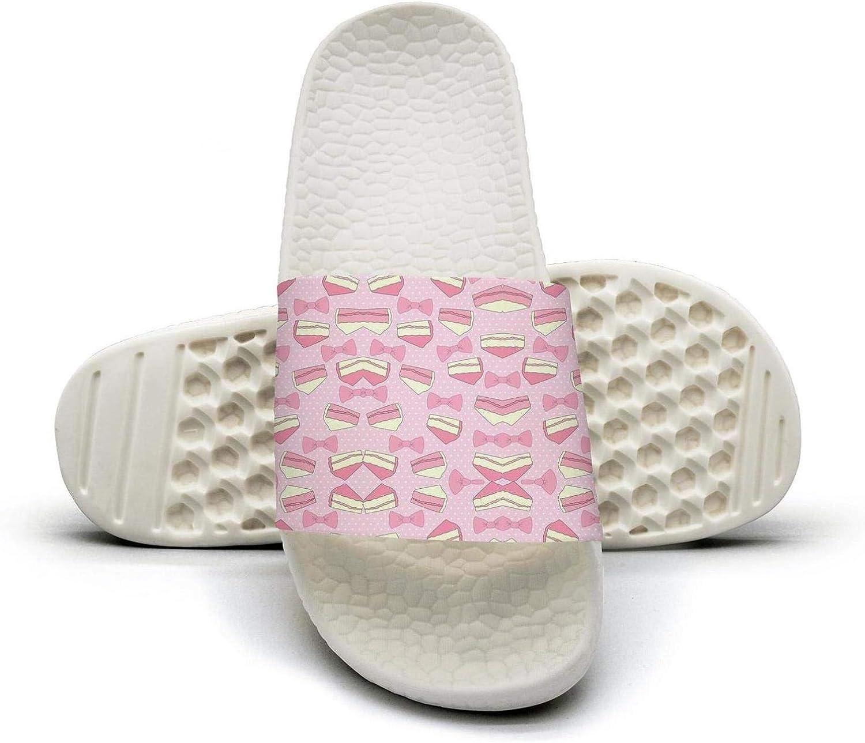 Women's Cute Cake Slip on Beach Sandals and Anti-Slip Shower Slipper Comfort Sandals