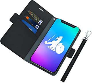 DefenderShield Universal Cell Phone EMF Radiation Shield & RFID Blocker - Detachable Magnetic Wallet Case w/Wrist Strap - Anti Cell Phone Radiation Protection (Up to 5.7