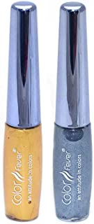 Color Fever Waterproof Eye Liner, Gold and Silver, 13.6g (Packof 2)