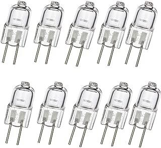 LXcom G4 Bi-Pin Halogen Light Bulb 20W 12V Halogen Bulb T3 JC Type for Accent Lighting Chandelier Puck Light Microwave Range Landscape Lighting, 10 Pack