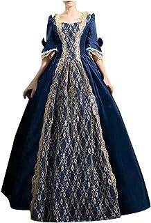 ReooLy Women Plus Size Gothic Vintage Prom Dress, Evening Dress Steampunk Retro Court Princess Half Sleeve Dress