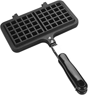 Waffle Iron Large Family, Dual Head Household Kitchen Gas Non-Stick Waffle Maker Pan Mould Mold Press Plate Baking Tool, C...