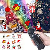 Christmas Light, UNIFUN Kids Projector Flashlight Battery Operated Handheld Decoration Light for Christmas, Party