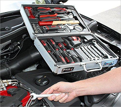 Werkzeugkoffer Werkzeug Koffer bestückt 51 Teile - Aluminium 39 x 29 x 11 cm - 6