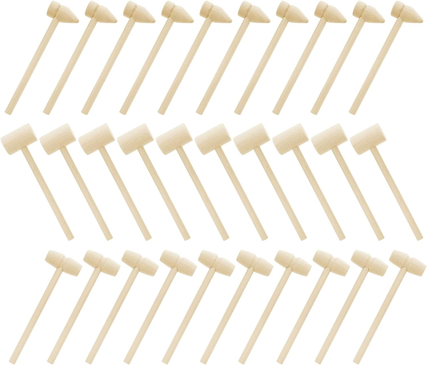 EXCEART 30pcs Mini Max New York Mall 83% OFF Wooden Hammer G Kids Small Mallets Toy