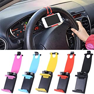 WXXS Universal Car Steering Wheel Mobile Phone Holder, Bracket for iPhone 4S 5 6 Plus Samsung Galaxy S4 S5 S6 Note 3 4 Sma...